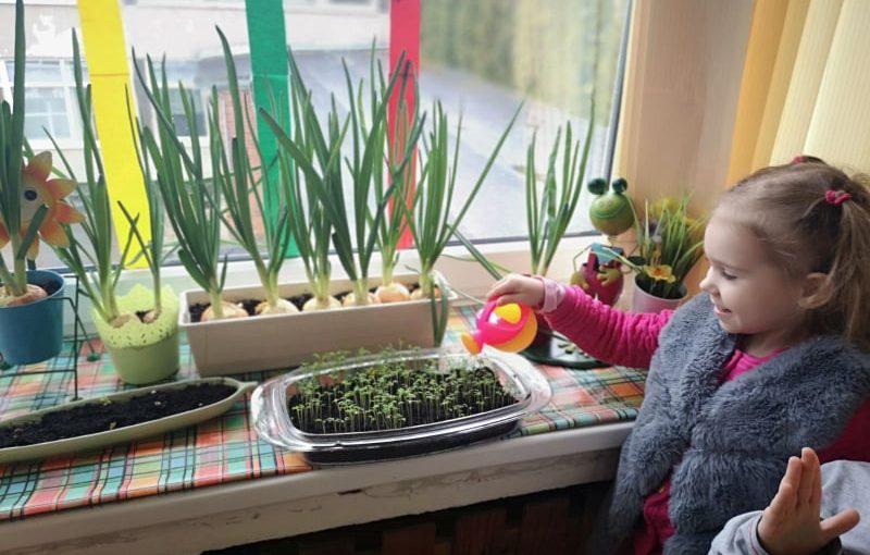 """""""Kiškučių"""" grupės vaikai vaišinasi užaugintu derliumi"""